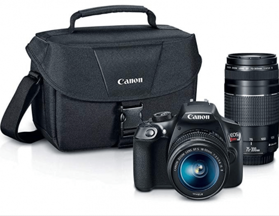 Canon Digital SLR Camera T6 with 2 lens