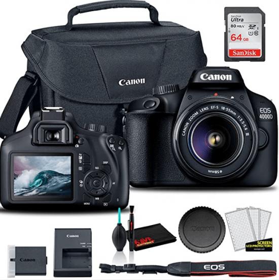 Canon EOS 4000D DSLR Camera Accessories