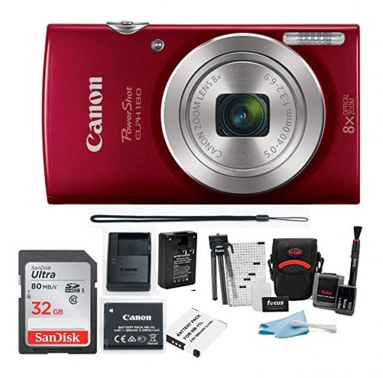 Canon PowerShot ELPH 180 20 MP Digital Camera