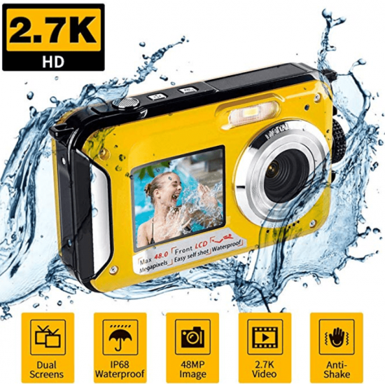 Underwater Waterproof Digital Camera for Snorkeling FHD 2.7K